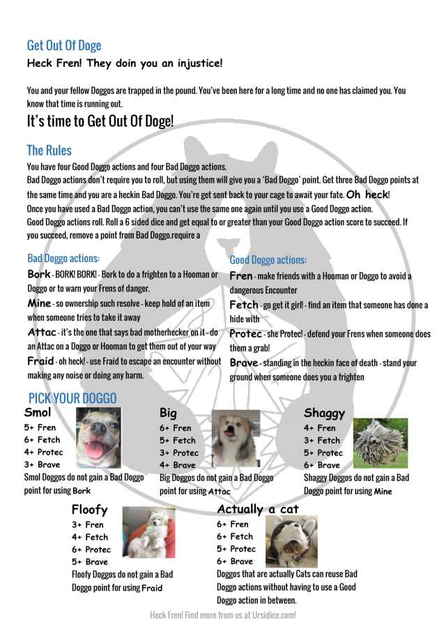Get-Out-of-Doge with character sheet one pager-1
