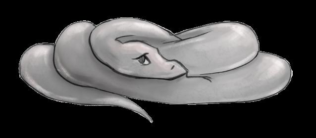 A shy snake