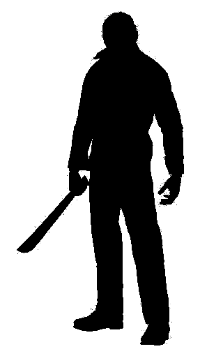 A man with a machete