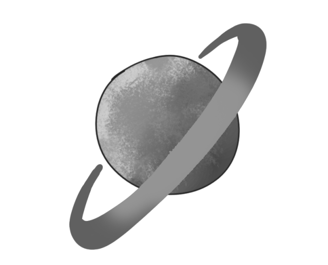 A planet with a ring around it