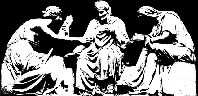 The three Moirai, relief, grave of Alexander von der Mark by Johann Gottfried Schadow (Old National Gallery, Berlin)
