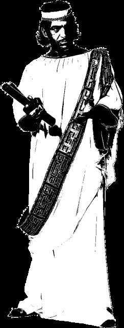 Man in Greek scholar's robes