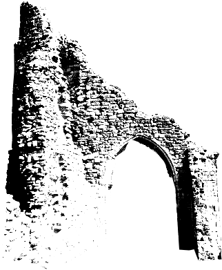 A ruined archway