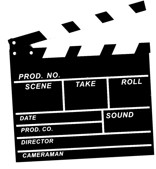 Black and white film clapper