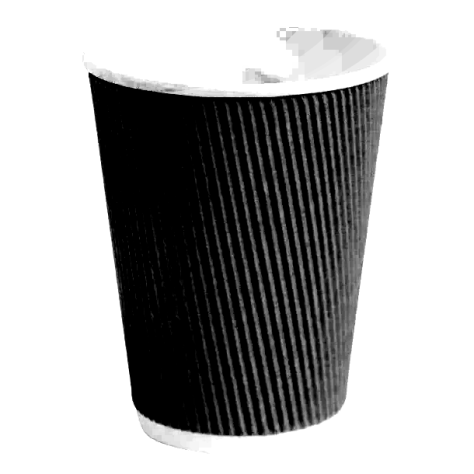 empty paper coffee cup