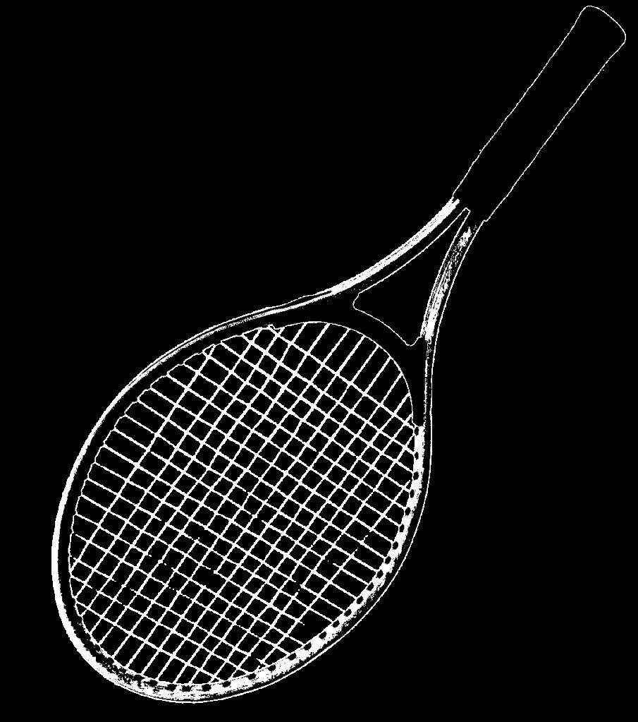 black and white tennis racket